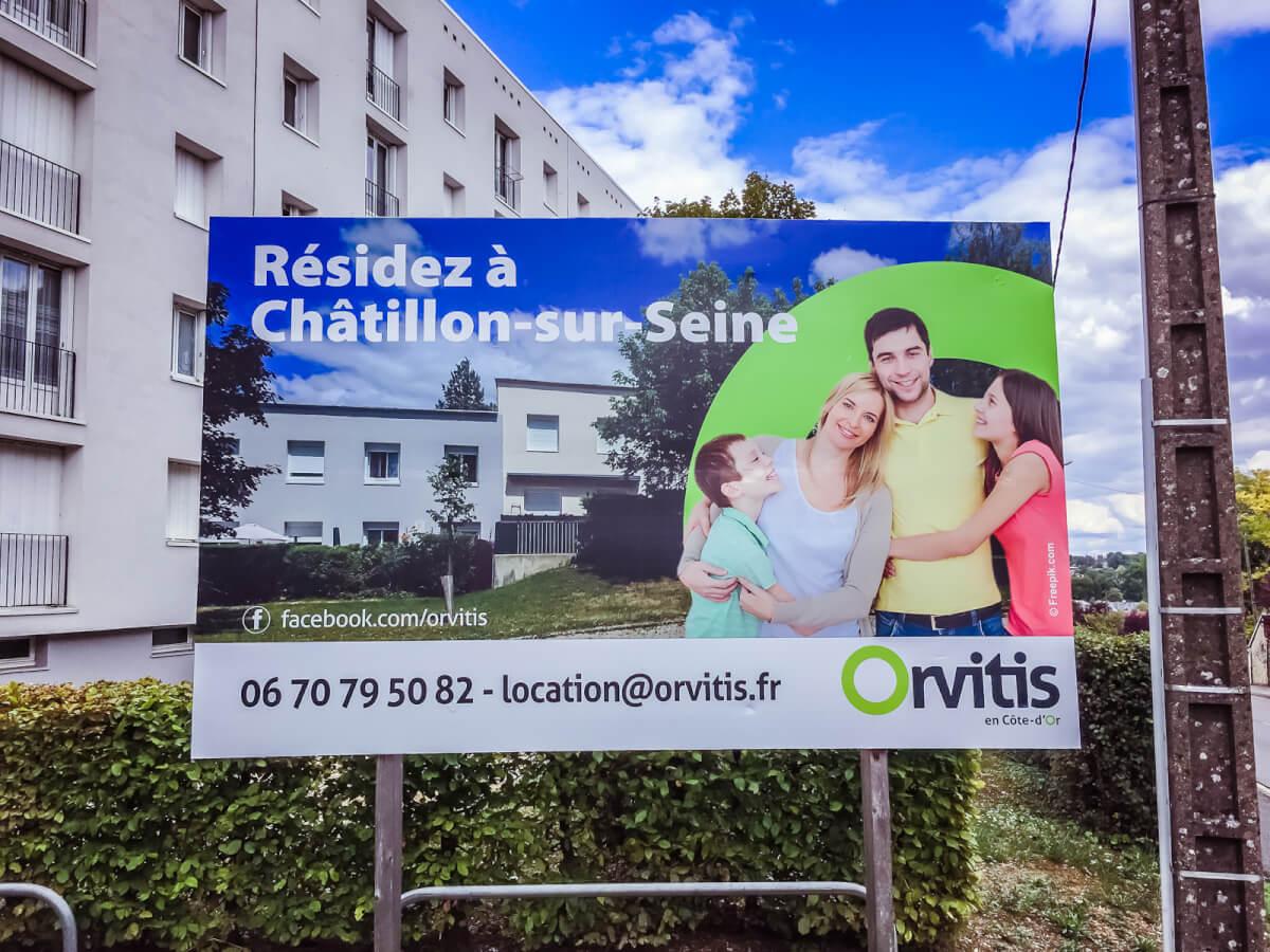 Panneau Orvitis Chatillon