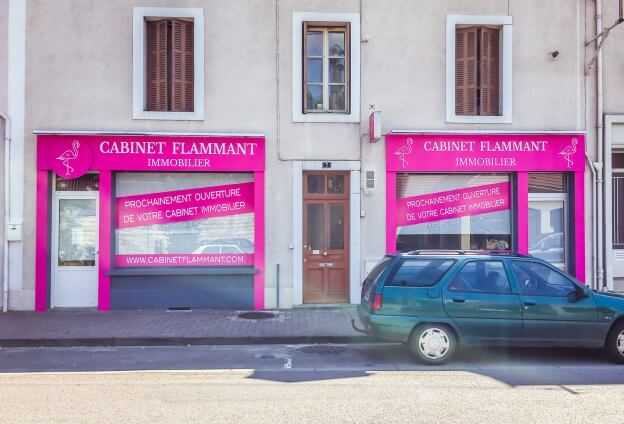 Enseigne Cabinet Flammant